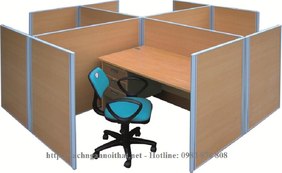 Thiết kế thi công vách ngăn gỗ văn phòng VNG06