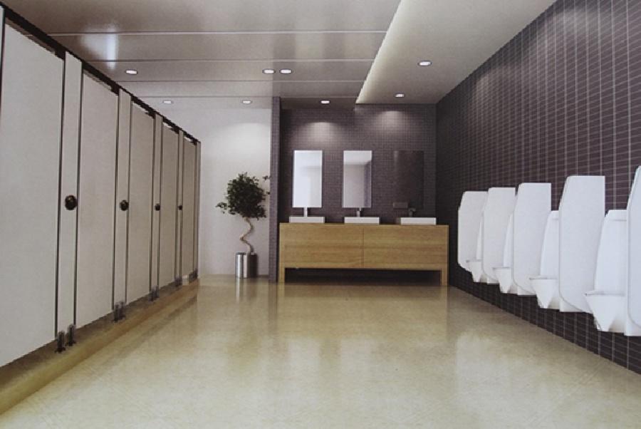 Thi công vách ngăn vệ sinh Compact HPL