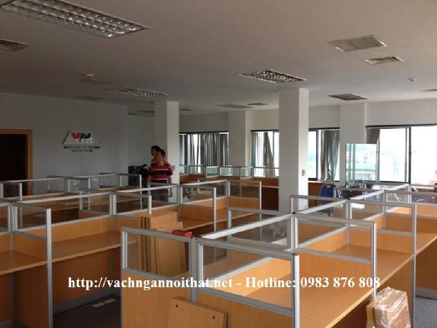 Dự án thi công vách ngăn văn phòng gỗ kính đài truyền hình VTV