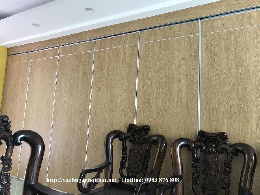 Thi công vách ngăn di động gỗ Melamine - 499 Lương Thế Vinh - Thanh Xuân