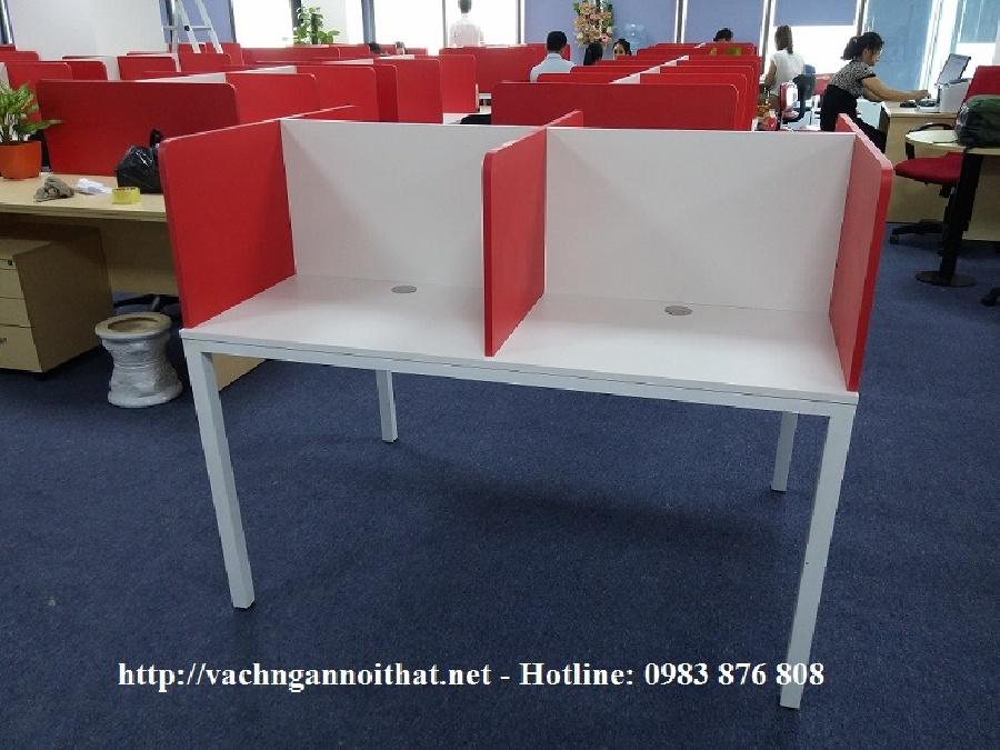 Thiết kế thi công vách ngăn gỗ melamine trên mặt bàn VNG25