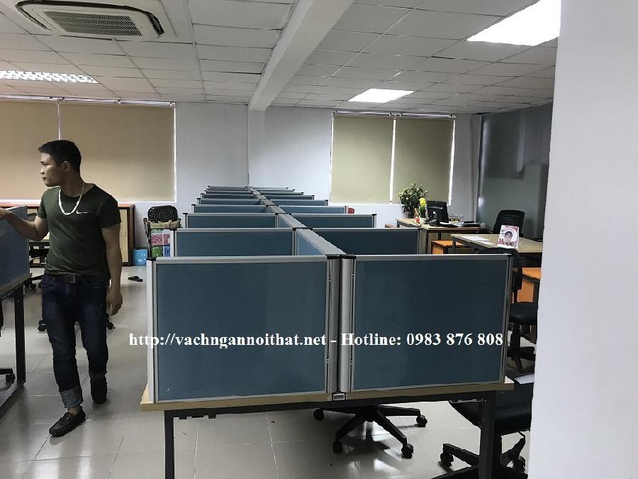 Thi công vách ngăn nỉ trên mặt bàn làm việc VNMB11