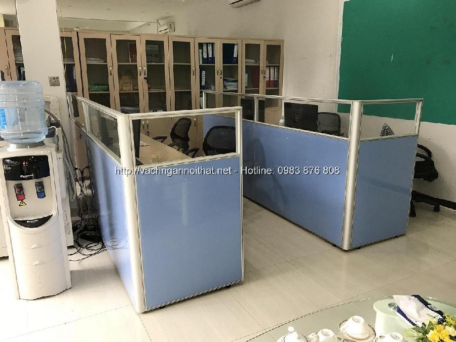 Vách ngăn khung nhôm nỉ kính VNH45-08 tại Trung Kính - quận Cầu Giấy