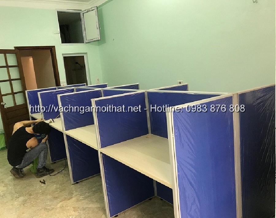 Vách ngăn nỉ bàn làm việc 8 người ngồi - Hoàng Văn Thái - quận Thanh Xuân