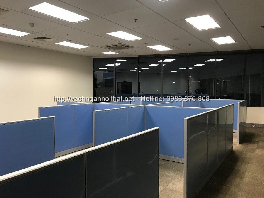 Lắp đặt vách ngăn văn phòng nỉ tại Huỳnh Thúc Kháng, Hà Nội