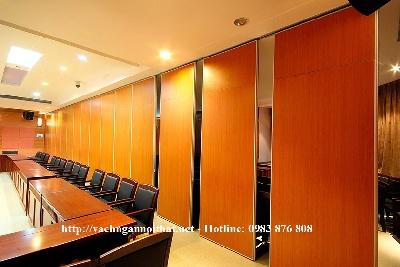 Thi công vách ngăn di động phòng họp VNDD08