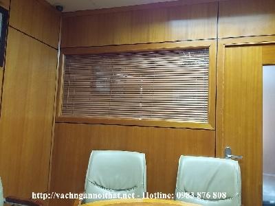Ốp gỗ Veneer tiêu âm phòng họp VN01