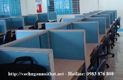 Thi công vách ngăn nỉ chia bàn làm việc tại quận Long Biên