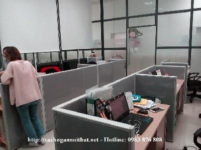 Thi công vách ngăn nỉ phẳng tại Dương Đình Nghệ - Cầu Giấy