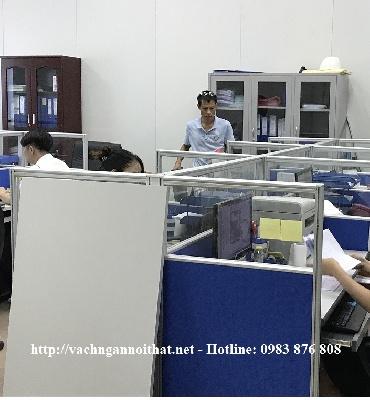 Thi công vách ngăn nỉ kính đường Giải Phóng - Thanh Xuân