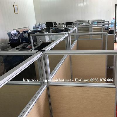 Thi công vách ngăn gỗ kính hệ VNH45-3A7 tại Nguyễn Hoàng Tôn - quận Tây Hồ