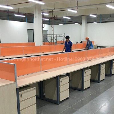 Thi công vách ngăn nỉ trên mặt bàn tại Bắc Ninh VNN-28