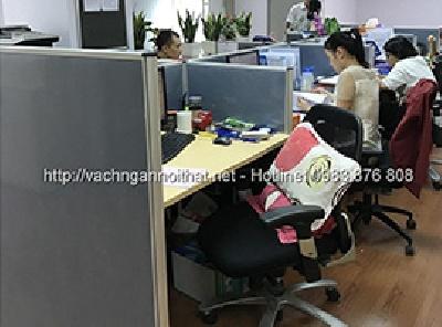 Thi công vách ngăn nỉ hệ 32 VNN-HG17 tại Hoàng Quốc Việt - Cầu Giấy