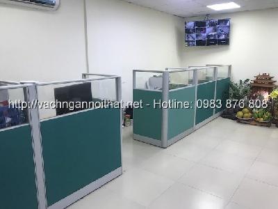 Thi công vách ngăn văn phòng nỉ kính khung nhôm tại Xa La - Hà Đông