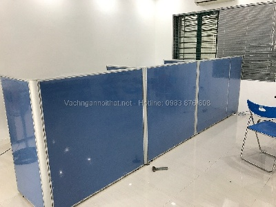 Lắp đặt vách ngăn văn phòng nỉ phẳng khung nhôm VNN-40 tại Gia Lâm giá rẻ