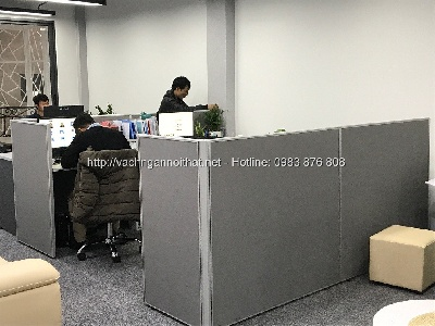 Vách ngăn văn phòng nỉ tại quận Hà Đông