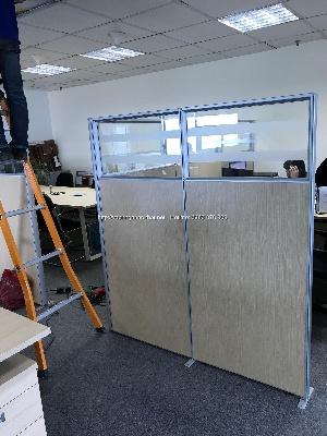 Thi công vách ngăn phòng gỗ kính khung nhôm tại Đội Cấn - quận Ba Đình