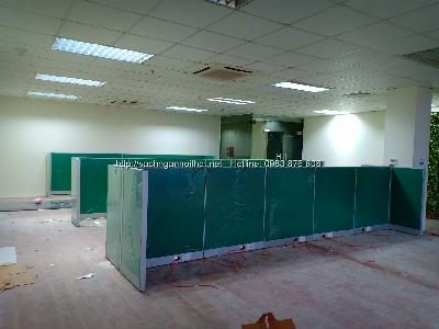 Thi công vách ngăn nỉ văn phòng Viettel Thái Nguyên