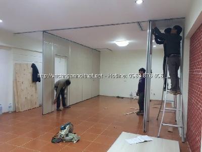 Lắp đặt vách ngăn di động phòng họp tại quận Thanh Xuân