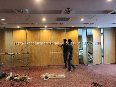 Thi công vách ngăn di động ngân hàng VietBank Bà Triệu quận Hoàn Kiếm