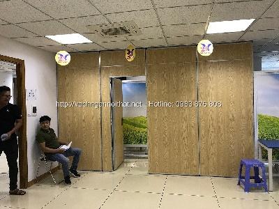 Vách ngăn di động gỗ melamine khung nhôm VND-325