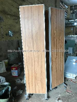 Sản xuất vách ngăn gỗ có bánh xe di chuyển VNG-BX12
