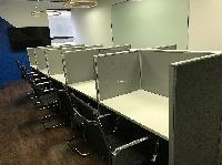 Mẫu vách ngăn cabin 10 người ngồi độc lập